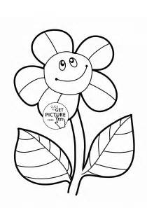 Flower Colouring Template by Sunflower Coloring Page For Flower Coloring