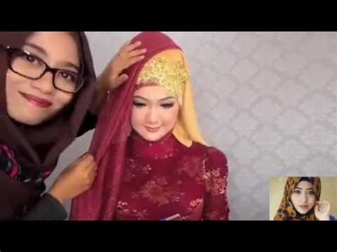 tutorial hijab menutup dada tutorial hijab pesta menutup dada 2016 youtube