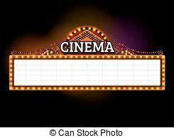 marquee sign theater marquee sign theater marquee blank neon lights sign drawing search clip
