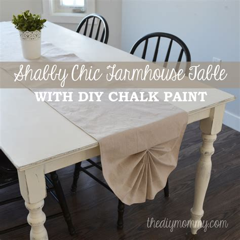 Marvelous White Dining Table #1: Shabby-Chic-Farmhouse-Table-with-DIY-Chalk-Paint-by-The-DIY-Mommy.jpg
