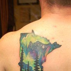 watercolor tattoos minnesota silhouette original painting borealis
