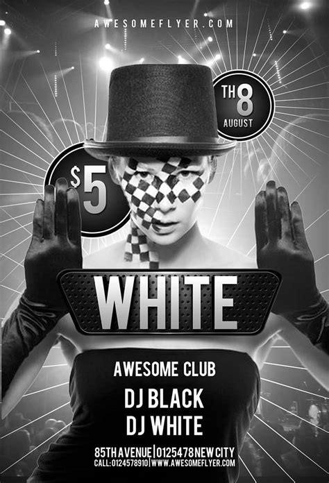 Download Free Halloween Flyer Psd Templates For Photoshop Flyer Template Black And White