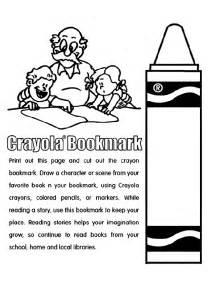 crayon coloring pages crayon bookmark coloring page crayola