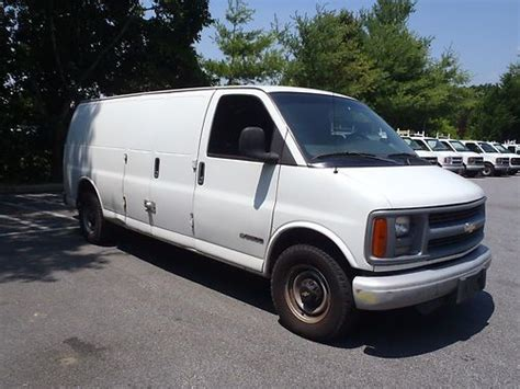 find used 2001 chevy 3500 diesel cargo van ready to work in baltimore maryland united states