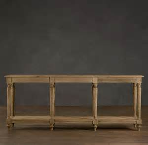 Restoration Hardware Console Table Copy Cat Chic Wisteria Wooden European Console