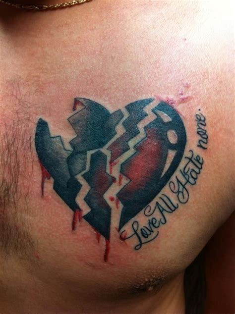 broken heart tattoo 17 best ideas about black tattoos on