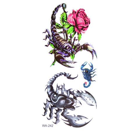 scorpion with rose tattoo temporary scorpion and design in 2017 real