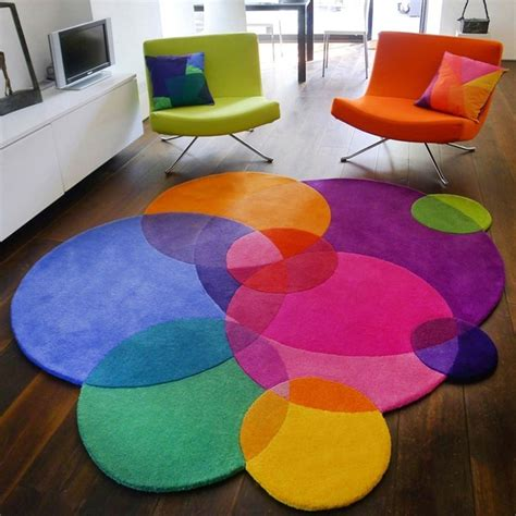 teppich rund bunt teppich rund 40 innendesigns mit rundem teppich die