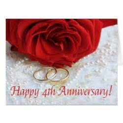 happy 4th anniversary cards zazzle