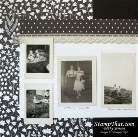 scrapbook layout black and white black white scrapbook layout with sahara sand lace