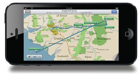 The Hobbit Iphone 5 if bilbo baggins used apple s ios6 map app reactor