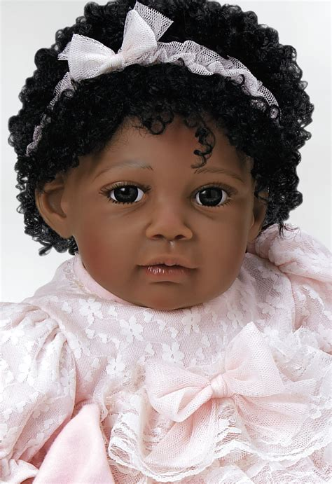black doll baby real american baby doll chantilly soft vinyl