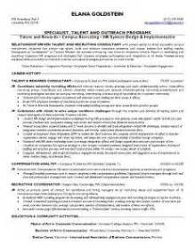Recruitment Consultant Sle Resume by Our Sle Resumes On Resume And Health
