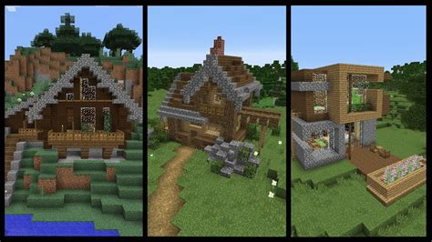 minecraft starter houses  home design video