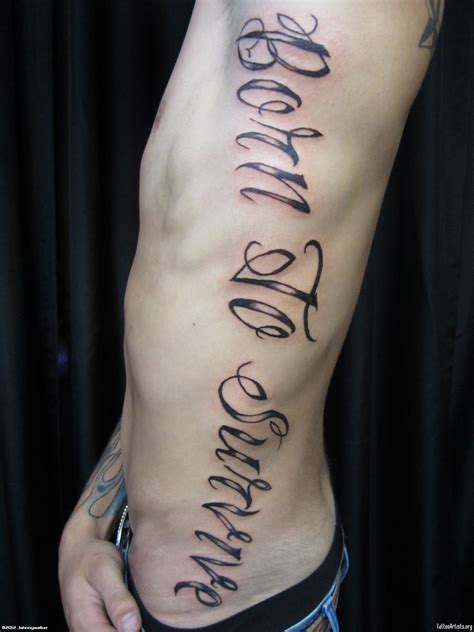 tattoos on the ribs rib lettering artistsorg