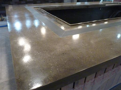 Concrete Bar Top by Lustrous Design
