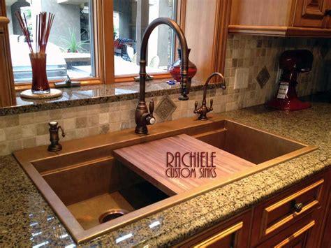 copper drop in kitchen sink drop in top mount custom copper sinks made in the usa
