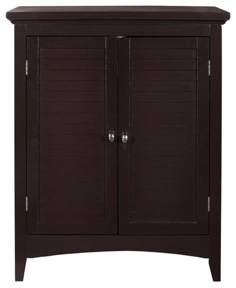 2 Door Cabinet With Shelves Slone Floor Cabinet With 2 Shutter Doors Transitional Bathroom Cabinets And Shelves By
