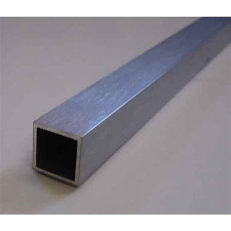 square section steel aluminium square tube 1 2 x 1 2 x 16swg wall per foot