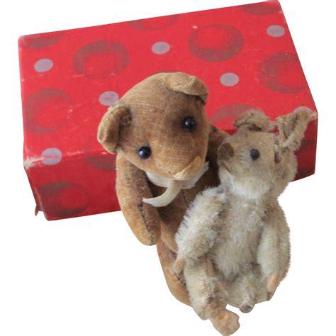 Teddy Mi Bunny Brown Ori cordoroy brown teddy with tiny white rabbit on hold
