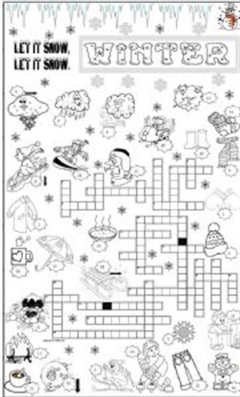 12 best winter puzzles images worksheet winter crossword