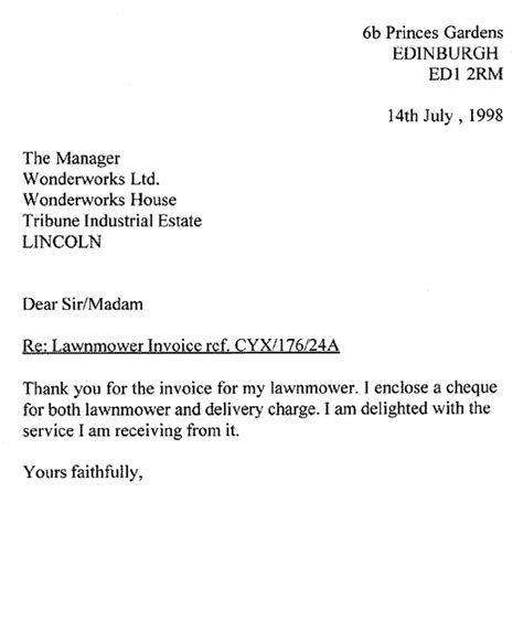 Official Letter Dear Sir Madam 6 Formal Letter Dear Sir Or Madam Computer Invoice