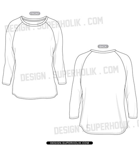 sleeve shirt template hellovector