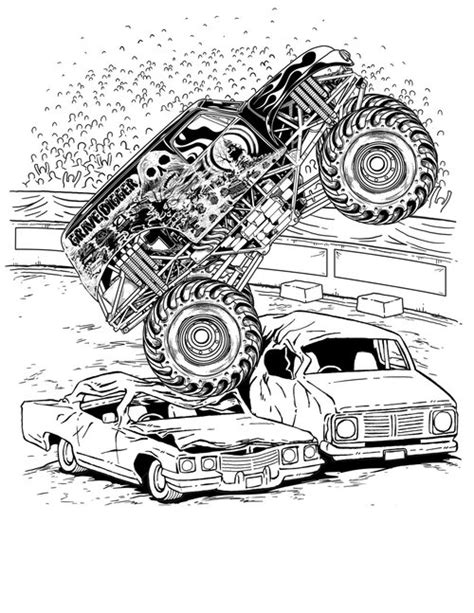 coloring page monster truck monster truck coloring pages for boys