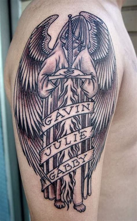 gothic tattoos for men 36 best tattoos with name banners images on