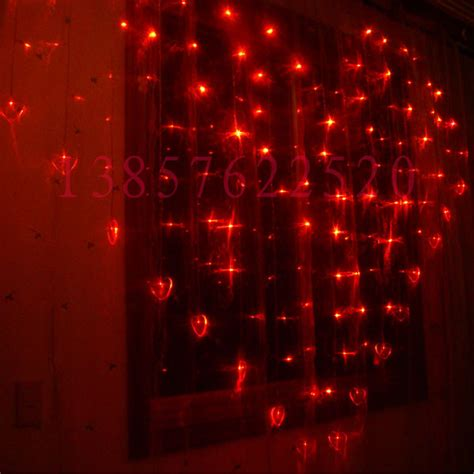 124pcs led 14pcs heart shaped flash holiday decorations 2