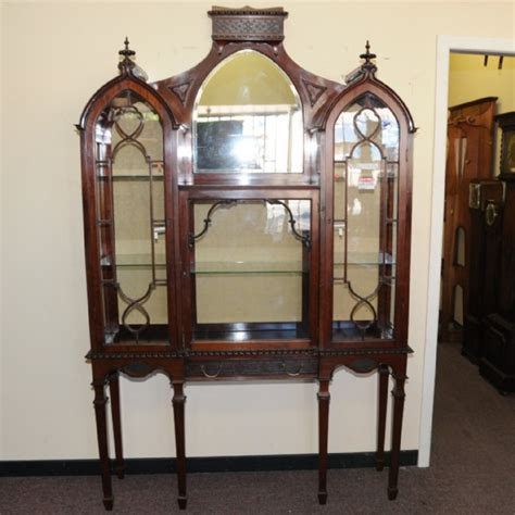 gothic victorian furniture a victorian gothic style display cabinet display