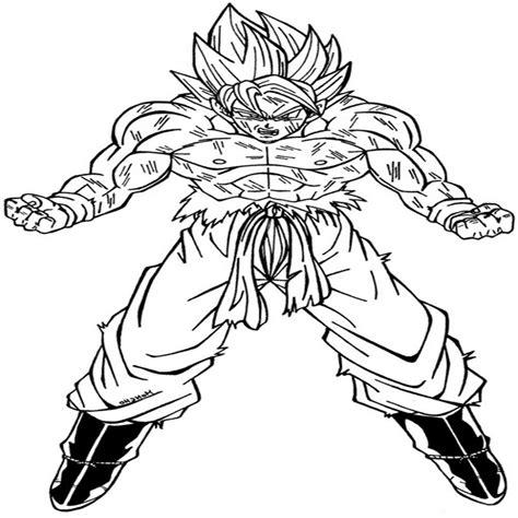 imagenes de goku para colorear imagen de goku para colorear dibujos de dibujosparacolorear