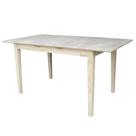 Unfinished Kitchen Tables Unfinished Rectangular Shaker Dining Table K T32x 30s