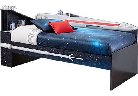 wars x wing black 3 pc left bookcase bed beds