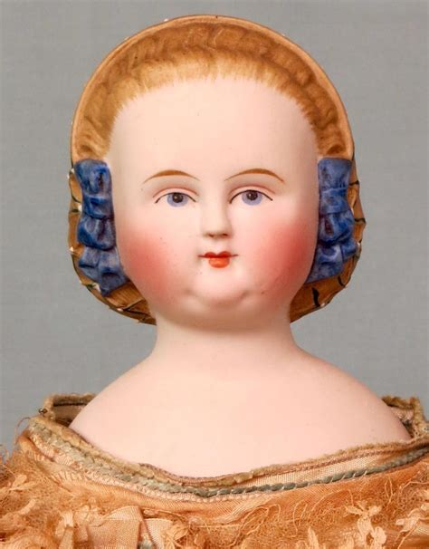 parian doll head antique 1860 parian shoulder doll with blue beaded