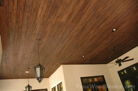 Decorative Wood Panels Renew Designs Faux Wood Workshop Faux Wood Ceiling