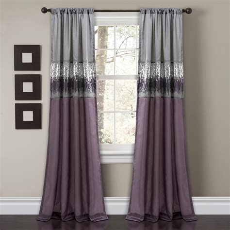 Purple Window Curtains Sky Window Curtain Purple Gray Lush Decor Www Lushdecor