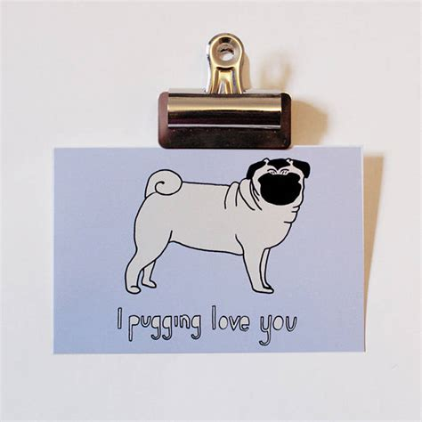 what is pugging i pugging you card and print by miss viola notonthehighstreet