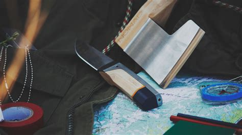 designboom nomad alexey pavo envisions nomad hatchet knife for outdoor