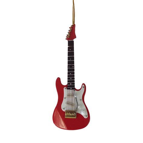 red electric guitar musical stringed instrument christmas