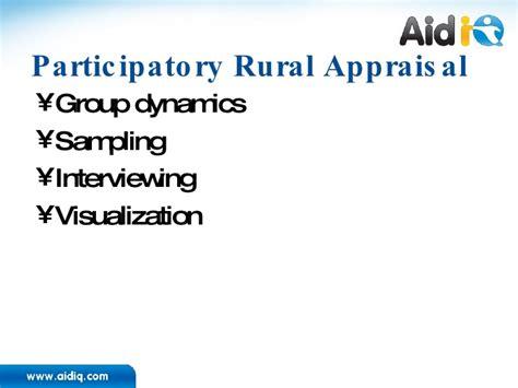Pra Participatory Rural Appraisal participatory programming