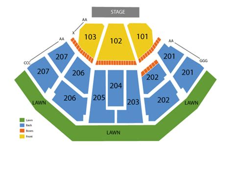 aaron s lakewood hitheatre seating chart aarons hitheatre at lakewood seating chart and tickets