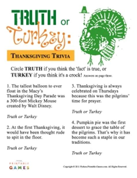 printable thanksgiving quiz games 8 best images of nfl thanksgiving day trivia printable
