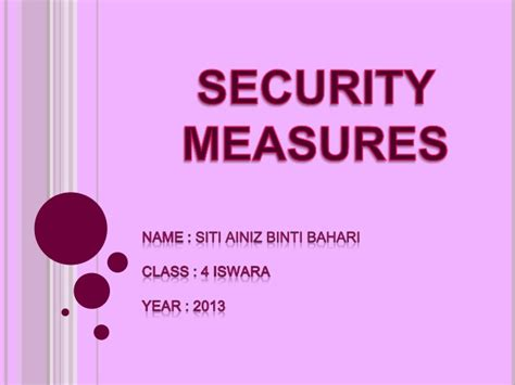 security measures microsoft powerpoint