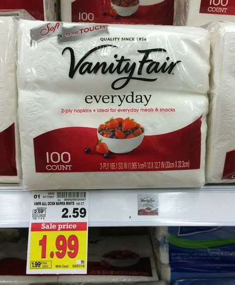 new vanity fair coupon great deal on napkins at kroger