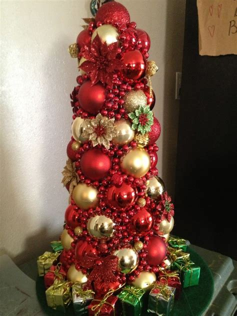 ornament tree i made this last week out of a foam cone
