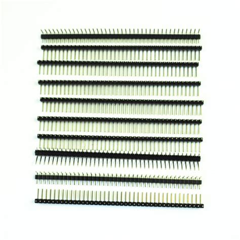 40 Pin 2 54mm Pitch Single Row Seat Pin Socke promotion 10 pcs 1 x 40 pin 2 54mm pitch single row right angle pcb pin headers in connectors