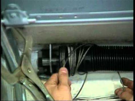 whiting door premium roll up door cable change