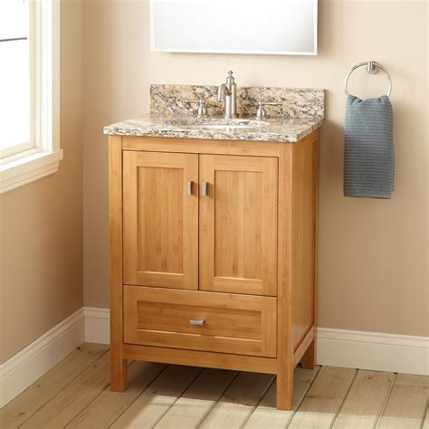 narrow depth bathroom vanities 24 quot narrow depth alcott bamboo vanity for undermount sink
