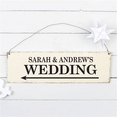 Handmade Wedding Signs - personalised handmade wedding sign by delightful living